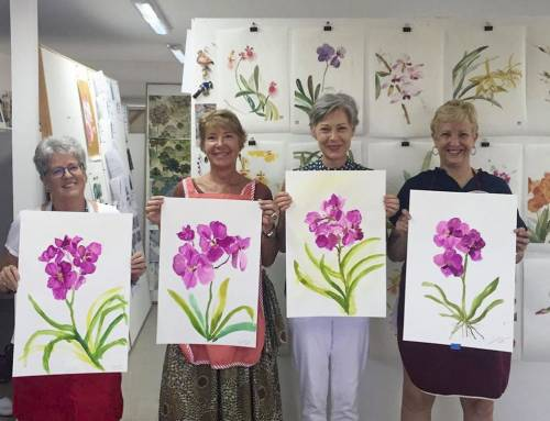 Painting orchids